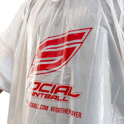 Social Paintball Rain Poncho, Clear Close Up