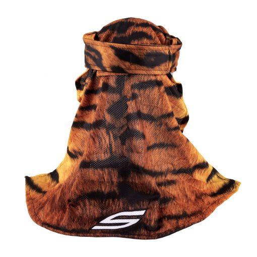 Social Paintball Headwrap, Orange Tiger Back
