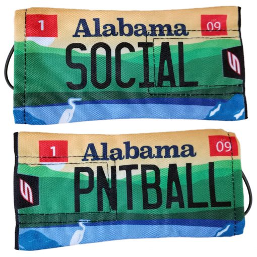 Social Paintball Barrel Cover, Alabama State License Plate
