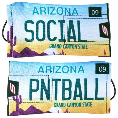 "Social Paintball Barrel Cover, Arizona ""Grand Canyon State"" License Plate"