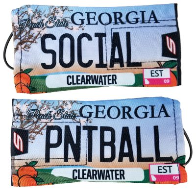 "Social Paintball Barrel Cover, Georgia ""Peach State"" License Plate"