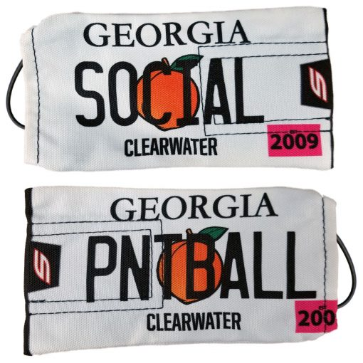 Social Paintball Barrel Cover, Georgia State License Plate