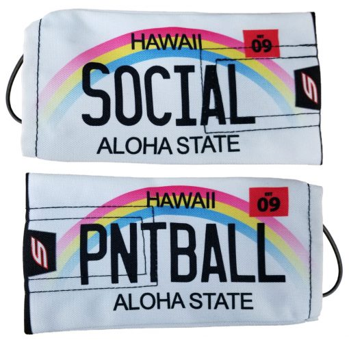 "Social Paintball Barrel Cover, Hawaii ""Aloha State"" License Plate"