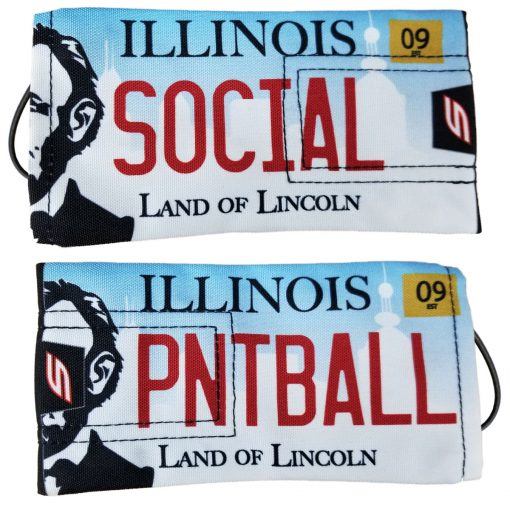Social Paintball Barrel Cover, Illinois License Plate