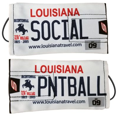 Social Paintball Barrel Cover, Louisiana License Plate