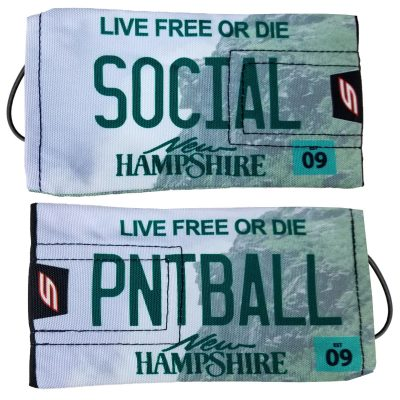 Social Paintball Barrel Cover, New Hampshire License Plate