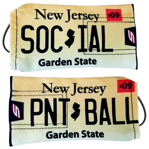 Social Paintball Barrel Cover, New Jersey License Plate