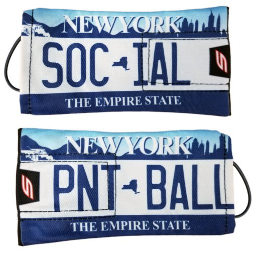 Social Paintball Barrel Cover, New York Empire State License Plate