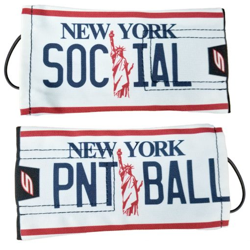 "Social Paintball Barrel Cover, New York ""Statue of Liberty"" License Plate"