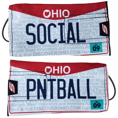 Social Paintball Barrel Cover, Ohio License Plate
