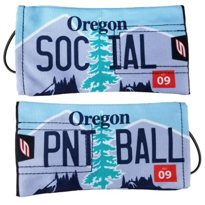 Social Paintball Barrel Cover, Oregon License Plate