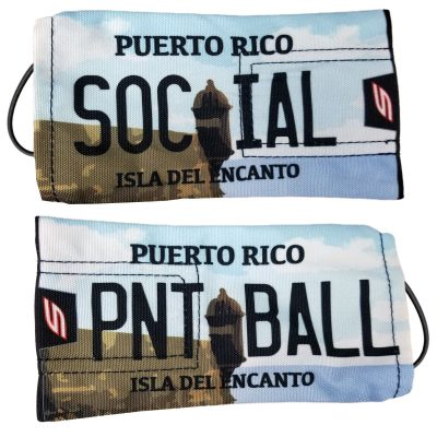 Social Paintball Barrel Cover, Puerto Rico License Plate