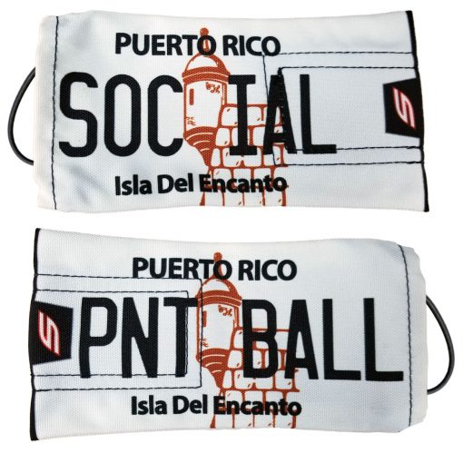 """Social Paintball Barrel Cover, Puerto Rico """"Classic White"""" License Plate"""