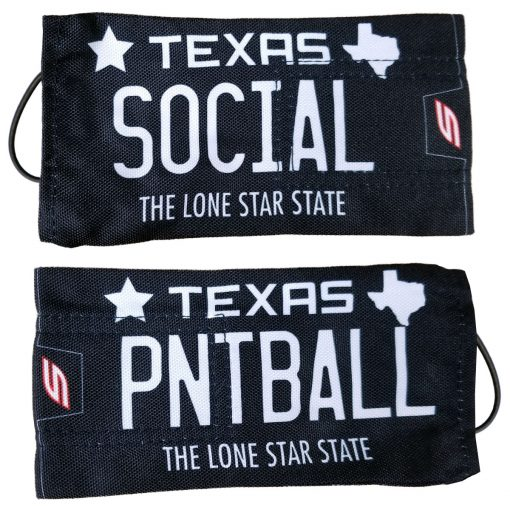 "Social Paintball Barrel Cover, Texas ""Classic Black"" License Plate"