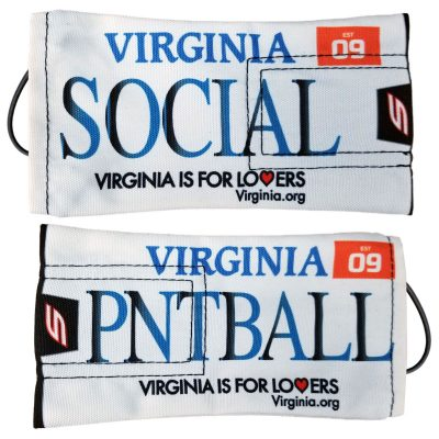 Social Paintball Barrel Cover, Virginia License Plate