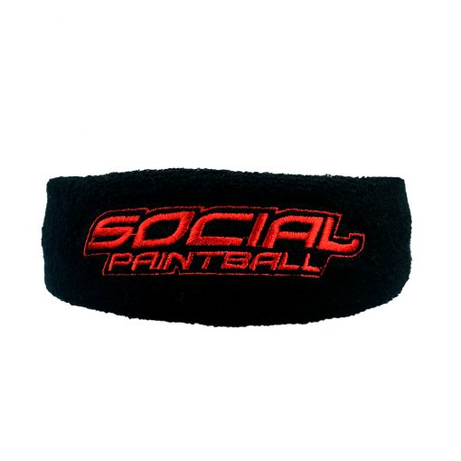 Social Paintball Sweatband, Black and Red