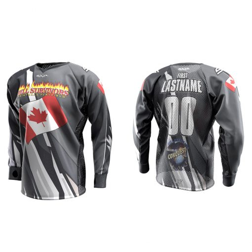 2020 Global Conquest Custom Event SMPL Jersey Canada Gray