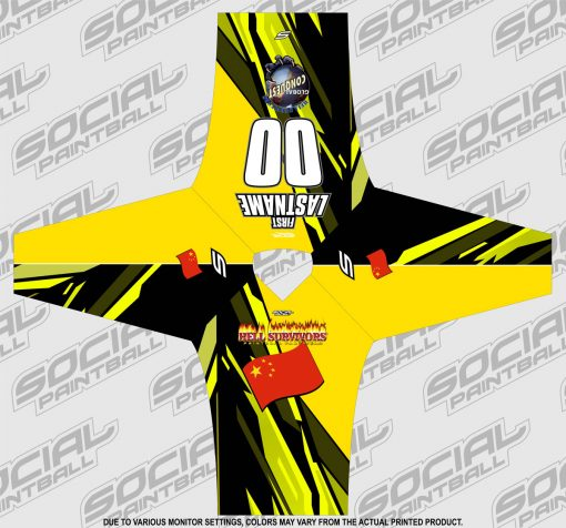 2020 Global Conquest Custom Event SMPL Jersey China Yellow
