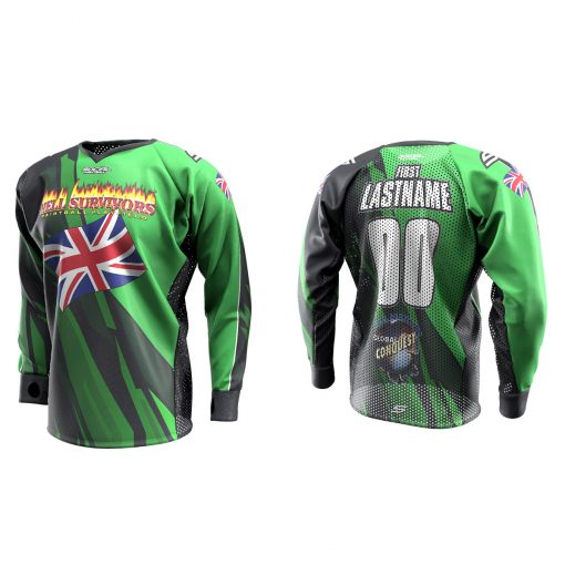 2020 Global Conquest Custom Event SMPL Jersey England Green