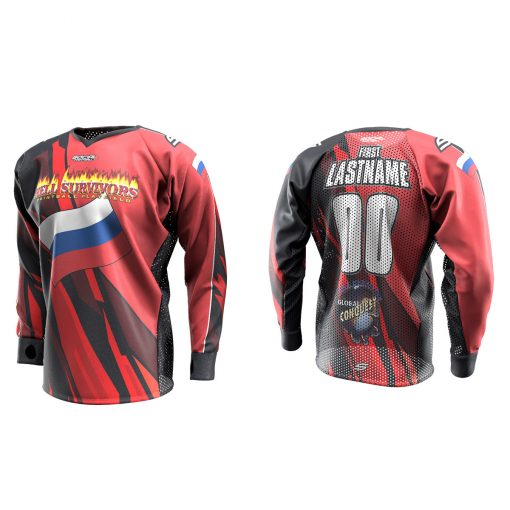 2020 Global Conquest Custom Event SMPL Jersey Russia Red