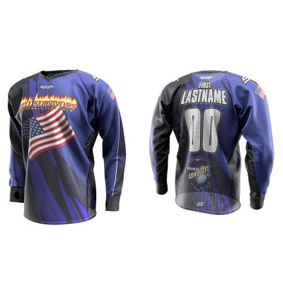 2020 Global Conquest Custom Event SMPL Jersey USA blue