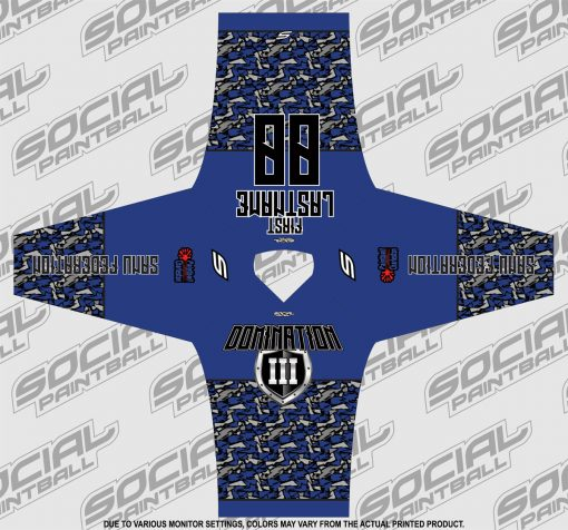 2020 Paintball Charleston Domination 3 Custom Event SMPL Jersey, Blue Sanu Federation