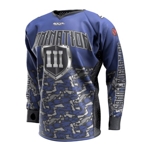 2020 Paintball Charleston Domination 3 Custom Event SMPL Jersey, Blue Sanu Federation Front