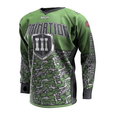 2020 Paintball Charleston Domination 3 Custom Event SMPL Jersey, Green Vetin Alliance Front