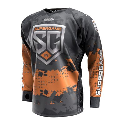 2020 SuperGame Central (Indiana) Custom Event SMPL Jersey, Orange Front