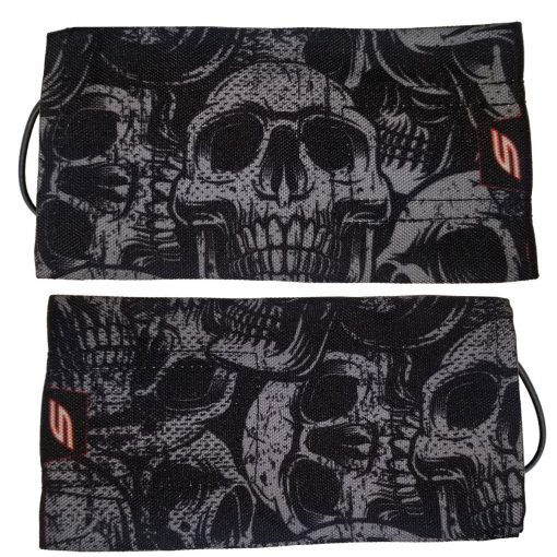 Social Paintball Barrel Cover, Gray Skull