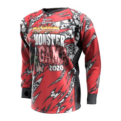 2020 Michigan Monster Game Custom Event SMPL Jersey, Red Team Front