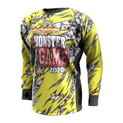 2020 Michigan Monster Game Custom Event SMPL Jersey, Yellow Team Front