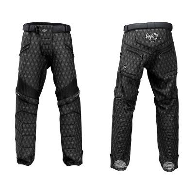 Custom Grit v3 Social Paintball Pants Black Dragon Scales