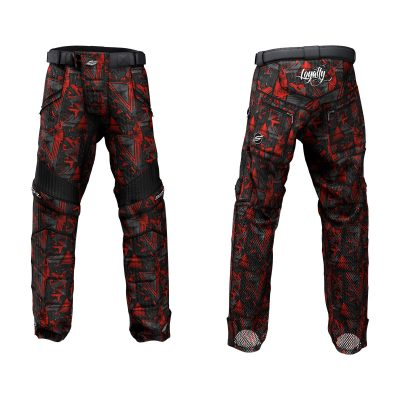 Custom Grit v3 Social Paintball Pants Hyper Camo Scarlet