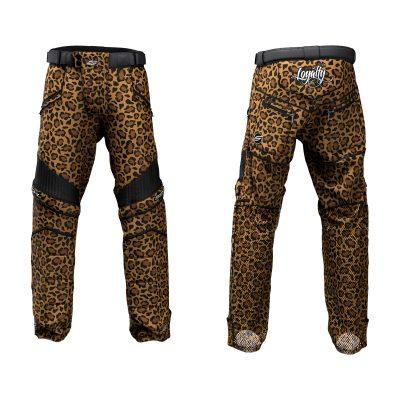 Custom Grit v3 Social Paintball Pants Leopard Print
