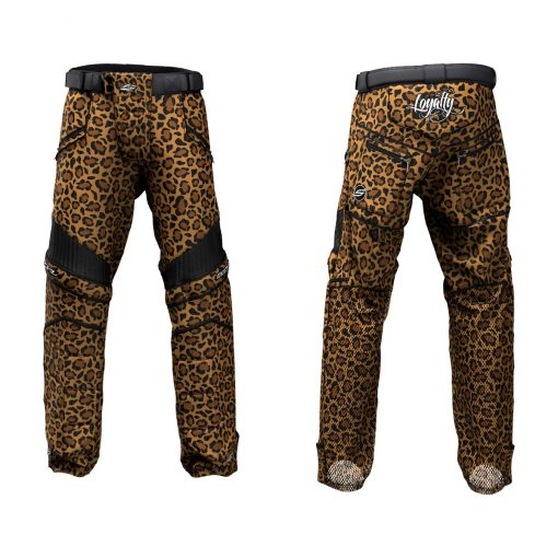 Custom Grit v3 Social Paintball Pants Leopard Print