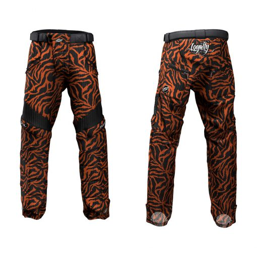 Custom Grit v3 Social Paintball Pants Orange Tiger