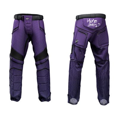 Custom Grit v3 Social Paintball Pants Purple Pant Suit Pin Stripe