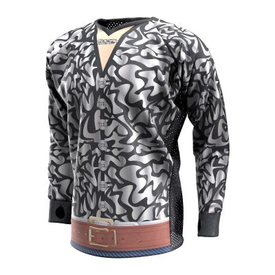 Exotic Tiger Silver SMPL Paintball Jersey Front