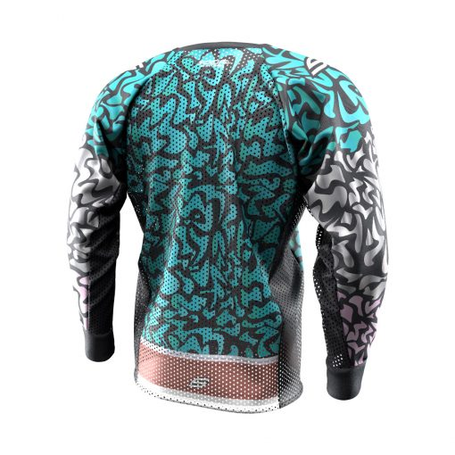 Exotic Tiger Teal SMPL Paintball Jersey Back
