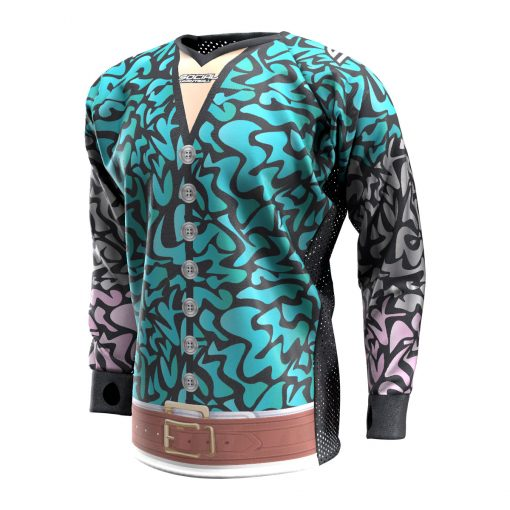 Exotic Tiger Teal SMPL Paintball Jersey Front