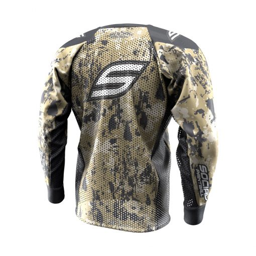 Grunge Camo Tan SMPL Paintball Jersey Back