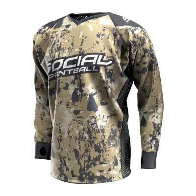 Grunge Camo Tan SMPL Paintball Jersey Front