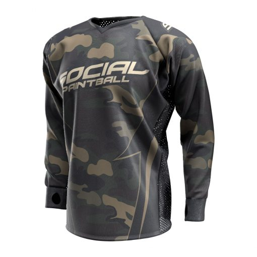 Woodland Camo SMPL Paintball Jersey Front