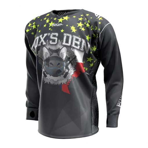 Fox's Den Unpadded SMPL Jersey, Texas Black Slime Front