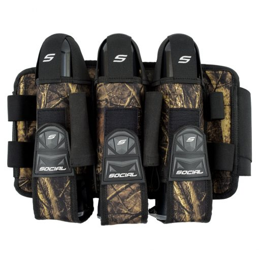Social Paintball Grit Pod Pack Harness, 3+6, Hunter Camo