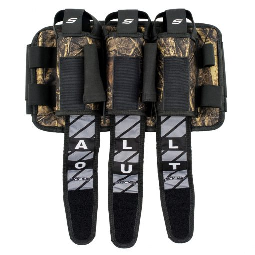 Social Paintball Grit Pod Pack Harness, 3+6, Hunter Camo Open