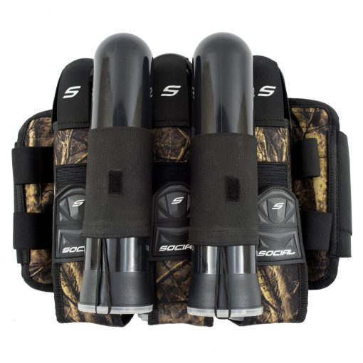 Social Paintball Grit Pod Pack Harness, 3+6, Hunter Camo Pods