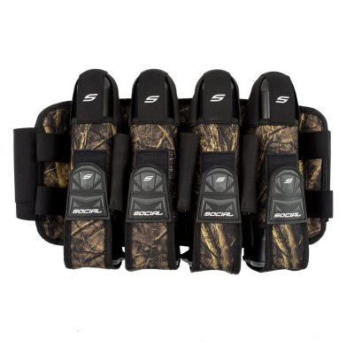 Social Paintball Grit Pod Pack Harness, 4+7 Hunter Camo