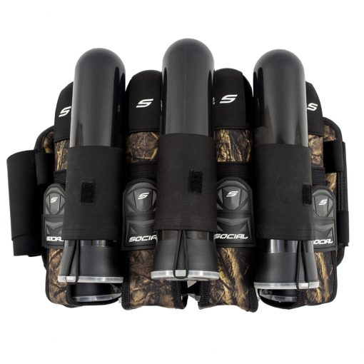 Social Paintball Grit Pod Pack Harness, 4+7 Hunter Camo Pods